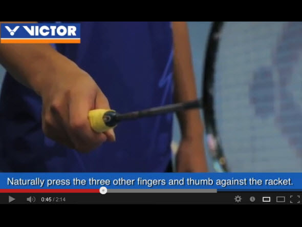 How to hold the racket and manage the shuttlecock correctly