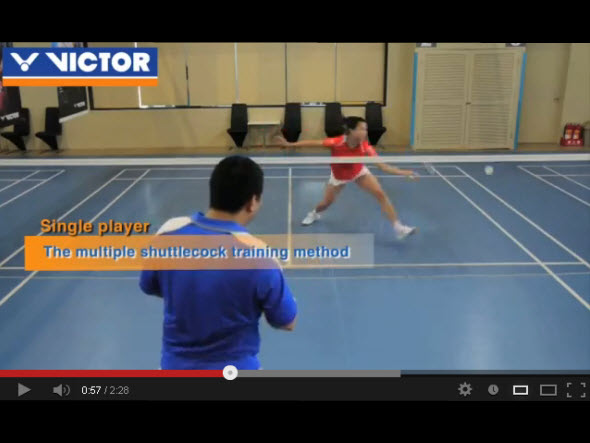 Basic footwork 5 : six point footwork-for covering the court all around (2)